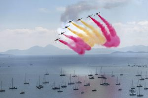 Patrulla Águila: Eagle Patrol takes to the skies to celebrate Spanish National Day