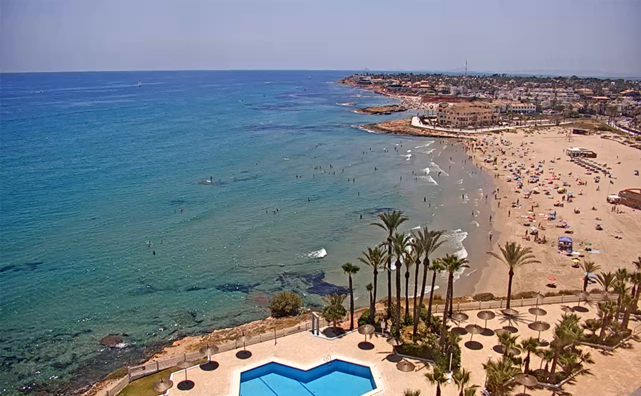 La Zenia beach webcam, Orihuela Costa